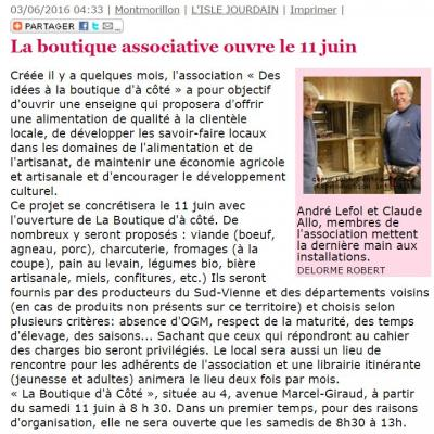Article presse boutique